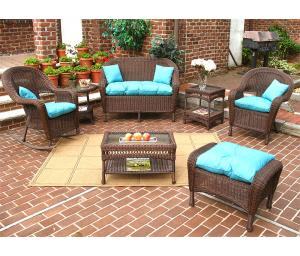 Antique Brown Malibu Outdoor Wicker Patio Furniture