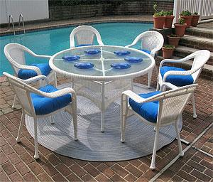 Our Larger Resin Wicker Patio Dining Sets