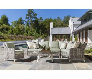 All Weather Resin Wicker Modular Sectionals, Canyon Lake Graniite Color