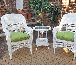 3 Piece Resin Wicker  Chat Sets