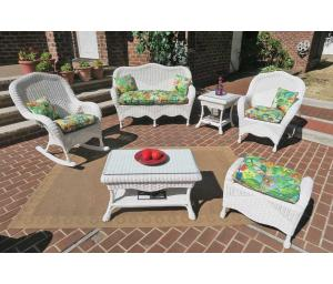White Naples Wicker Seating