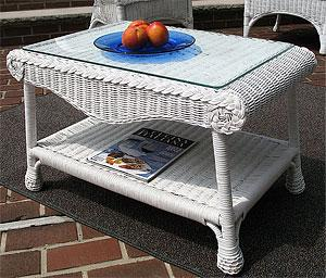 Wicker Cocktail  & End Tables