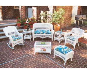White Bel Aire Resin Wicker Patio Furniture