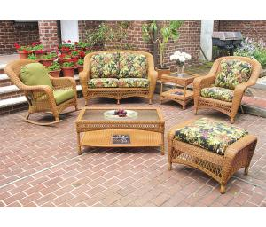 Golden Honey Palm Springs Resin Wicker Furniture Sets