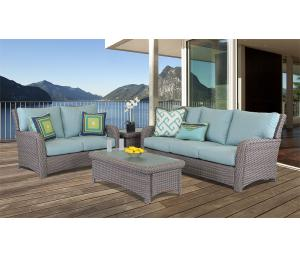 St Croix All Weather Resin Wicker Furniture Sets Stone Color