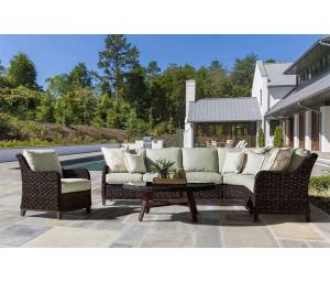 All Weather Resin Wicker Modular Sectionals, Canyon Lake Dark Brown