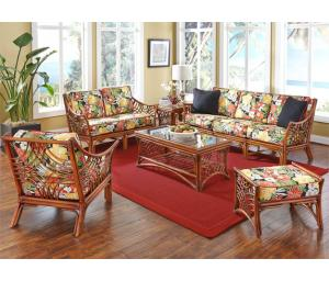 Brown Wash South Pacific Rattan Furniture Sets