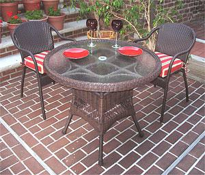 Our Smaller Resin Wicker Patio Dining Sets