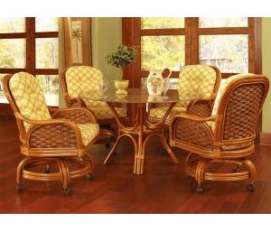 Rattan Dining Sets with Casters