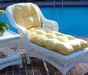 Outdoor Resin Wicker Chaise Lounges