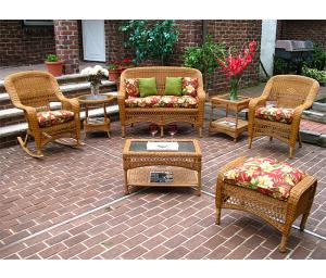 Golden Honey Bel Aire Outdoor Resin Wicker Patio Furniture