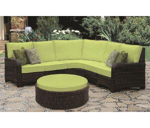 All Weather Resin Wicker Modular Sectional, St Croix in Tobacco