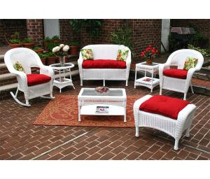 White Malibu Outdoor Wicker Patio Furniture