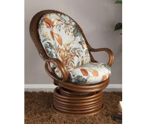 Rattan Swivel Rockers Chairs