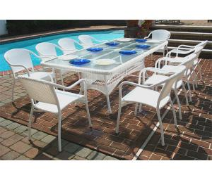 Resin Wicker Patio Dining Sets with Bistro Chairs