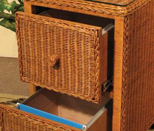 Wicker File Cabinets