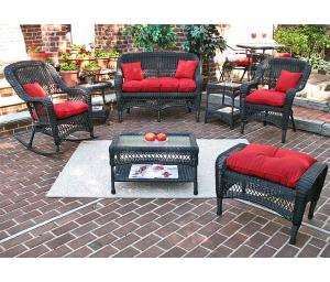 Black Bel Aire Outdoor Resin Wicker Patio Furniture