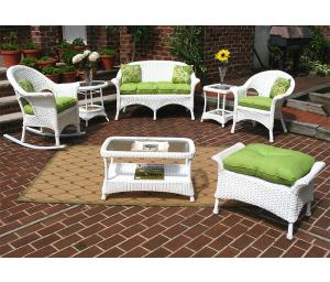 White Veranda Outdoor Wicker Patio Furniture