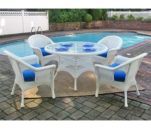 Resin Wicker Patio Dining Sets with Veranda Chairs