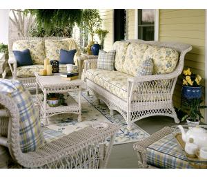 Lancaster Rattan Framed Natural Wicker Furniture Sets (Custom Painting Available)