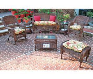Antique Brown Bel Aire Outdoor Resin Wicker Patio Furniture