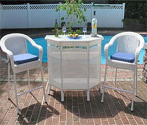 Resin Wicker Bars & Bar Stools
