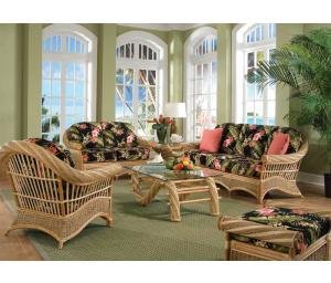 Countryside Twist Rattan Framed Natural Wicker Furniture Sets