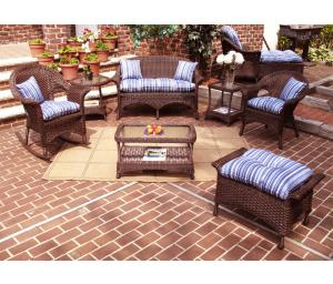 Antique Brown Veranda Outdoor Wicker Patio Furniture