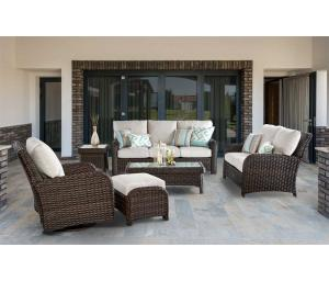 St Croix All Weather Resin Wicker Furniture Sets, Tobacco
