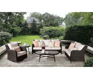 Canyon Lake All Weather Resin Wicker Furniture Sets, Dark Brown