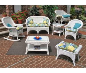 White Diamond Wicker Furniture