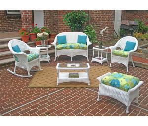 White High Back Veranda Outdoor Wicker Patio Furniture