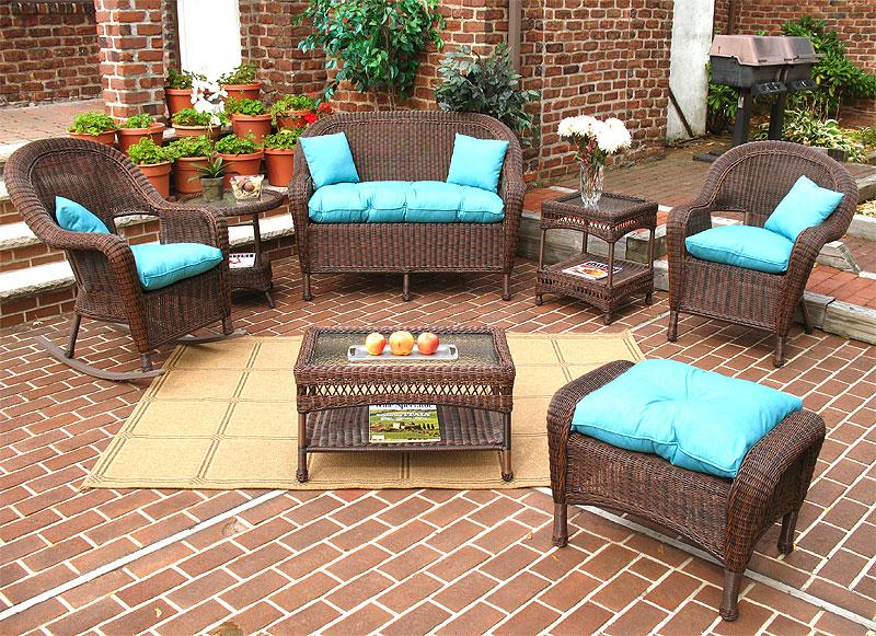 Antique Brown Malibu Outdoor Wicker Patio Furniture