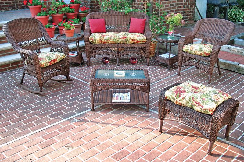 Antique Brown Bel Aire Outdoor Resin Wicker Patio Furniture
