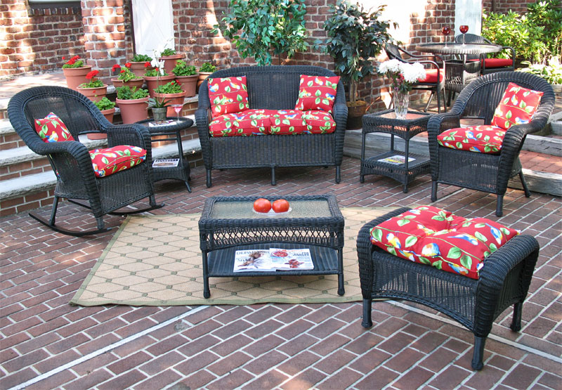 Black Malibu Outdoor Wicker Patio Furniture