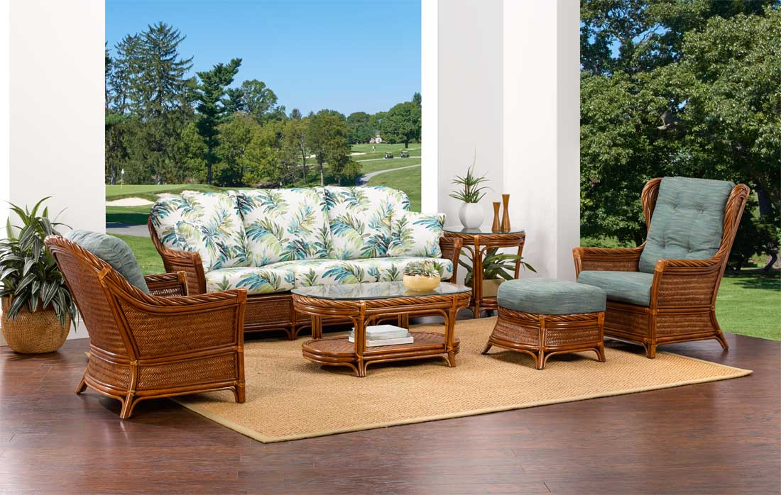 South Shore Natural Rattan Seating..(Custom Finishes Available)