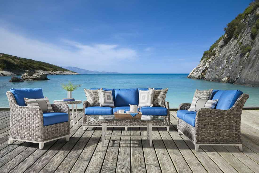 Canyon Lake All Weather Resin Wicker Furniture Sets Granite Color