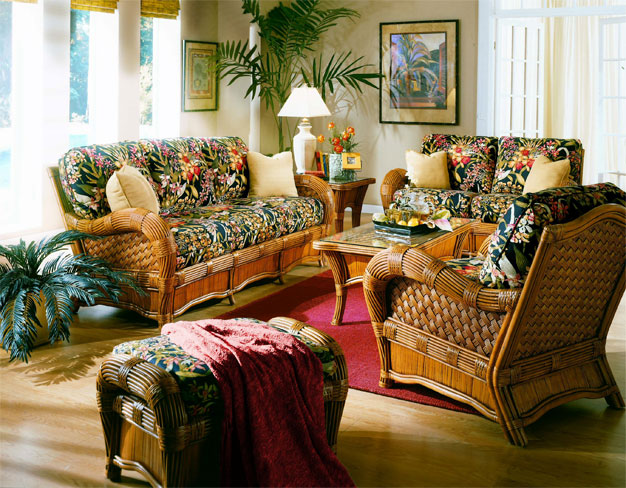 Wicker Jamaica Natural Rattan Furniture Sets