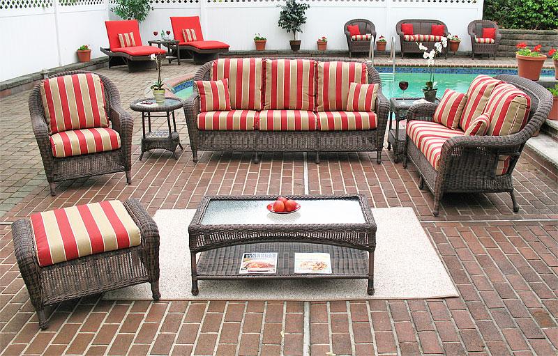 Antique Brown Laguna Beach Resin Wicker Furniture Sets