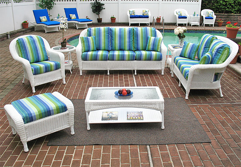 White Laguna Beach Resin Furniture Sets
