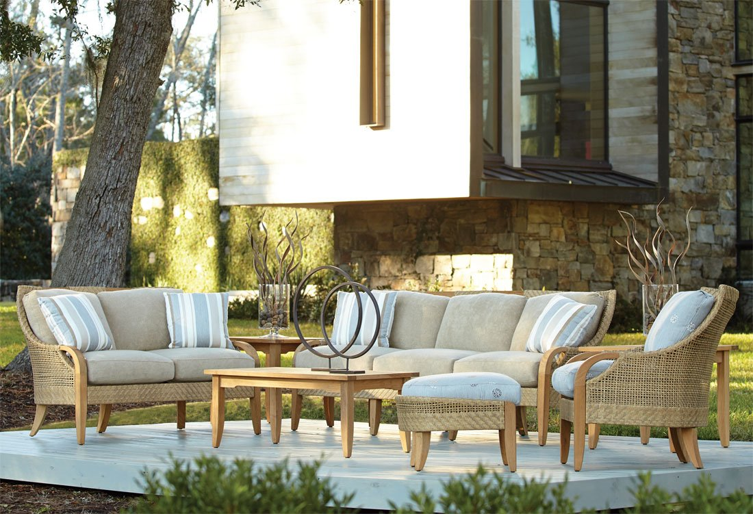 Lane Venture Edgewood Resin Wicker and Teak Outdoor Furniture Collections
