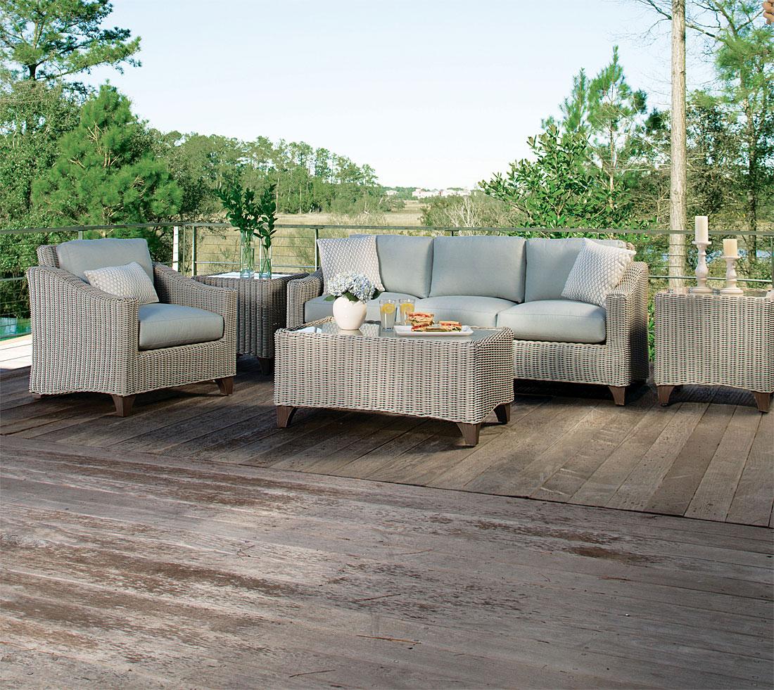 Lane Venture Requisite Resin Wicker Furniture, Bone Color