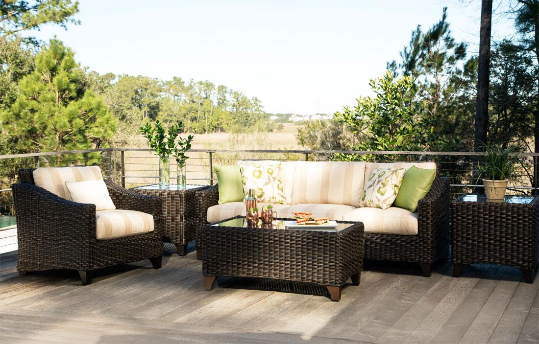 Lane Venture Requisite Resin Wicker Furniture Groups, Macchiato Color