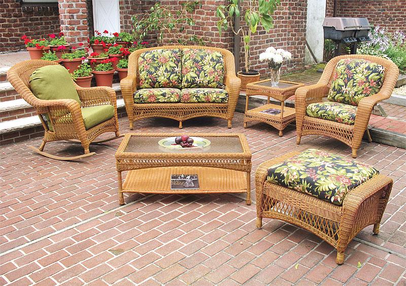 Golden Honey Palm Springs Resin Wicker Furniture Sets