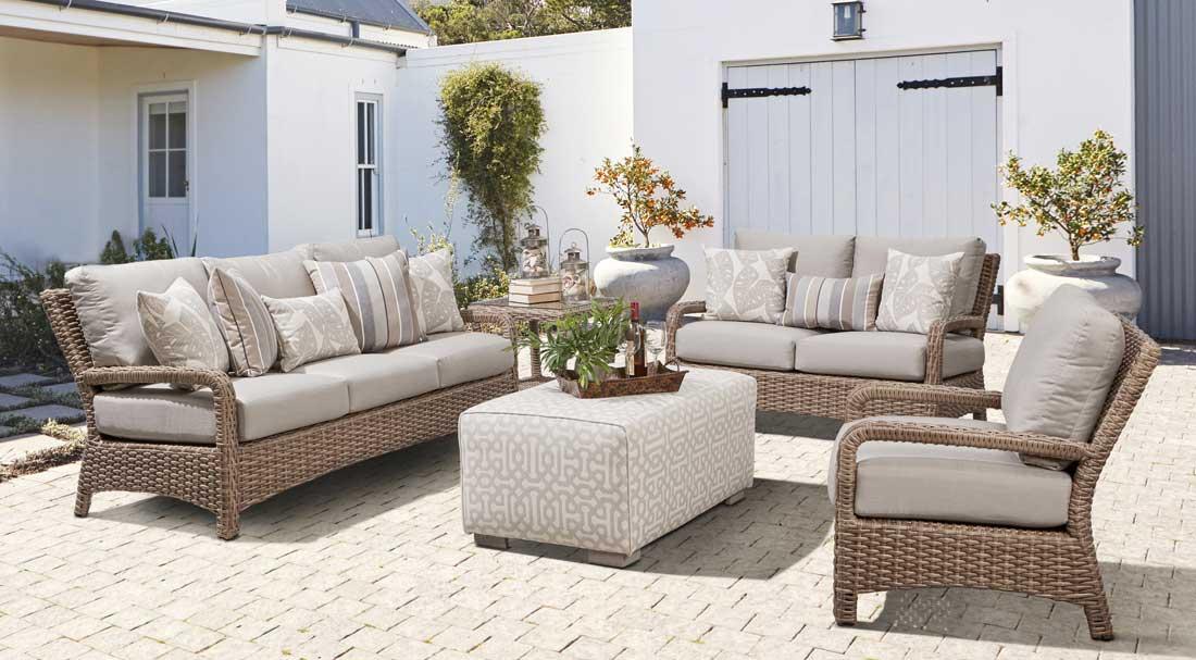 Bonita Collection All Weather Resin Furniture Sets, Sandalwood Color