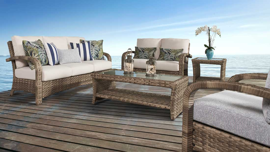 Caramel Collection All Weather Resin Furniture Sets, Sandalwood Color