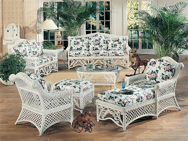 beautiful white wicker bedroom furniture | Wicker White Victorian Rattan Framed Wicker Furniture Sets