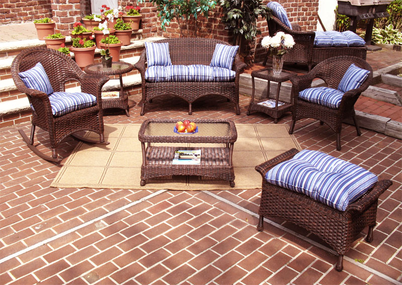 Antique Brown Veranda Outdoor Wicker Patio Furniture