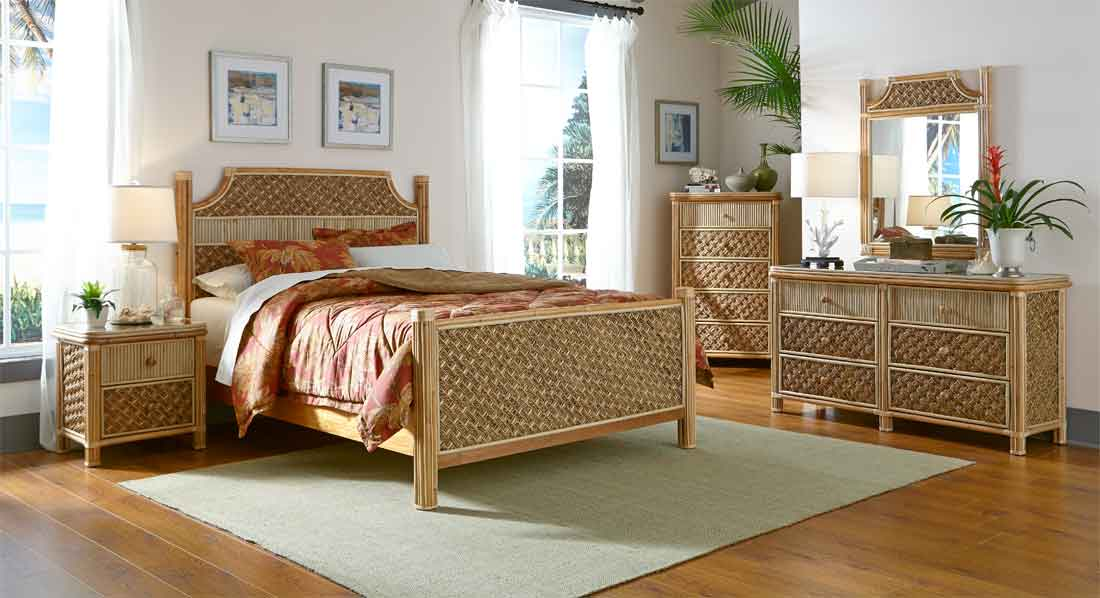 Natural Nau Rattan Bedroom Sets