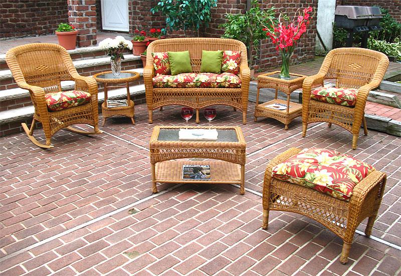 4 Piece Belair Resin Wicker Furniture, Resin Wicker Furniture
